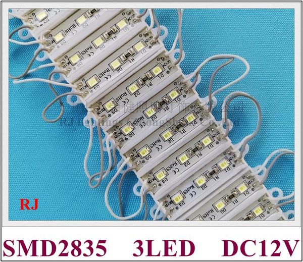 36mm * 09mm * 04mm SMD 2835 işareti için LED modülü reklam ışık modülü mektup DC12V 3led su geçirmez yüksek parlak ücretsiz kargo