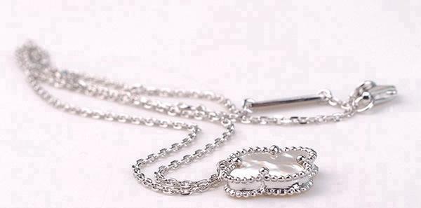 925 ayar gümüş takı dört yapraklı gümüş kolye doğal siyah kadınlar için kırmızı beyaz yeşil akik necklac kolye
