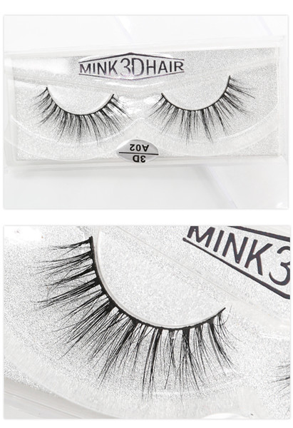 A02 wholesale 3D A series 100% Real mink Eye Lashes Thick false Eyelashes a pair of false eyelashes with Crystal box
