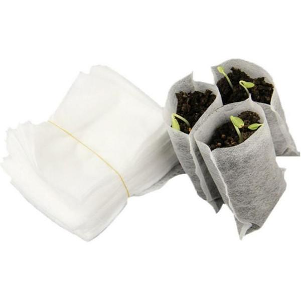 Новые Нетканые сумки для питомников Детские горшки для выращивания рассады 8 * 10см 100шт / упак