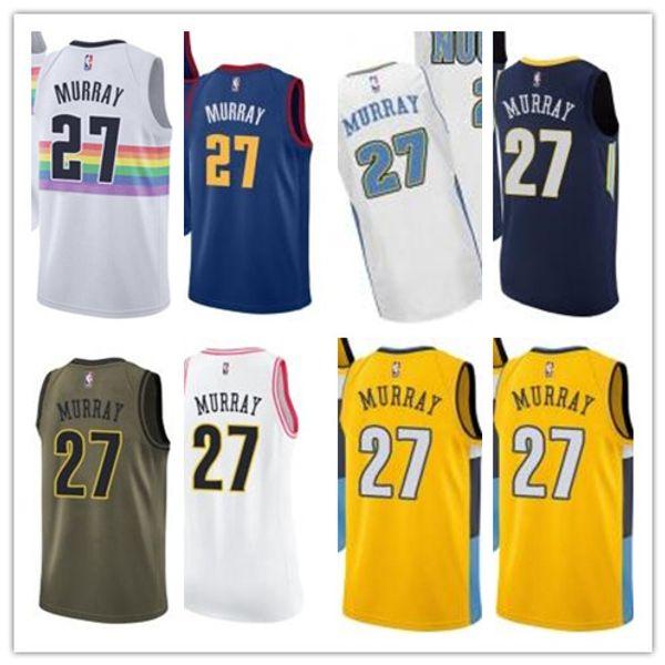 brand new 257dc 9e341 2019 Custom Best 2018 Basketball Wear Men'S Denver Nugget#27 Jamal Murray  Swingman Yellow Jersey City Edition Basketball Jerseys From Gjybest002, ...