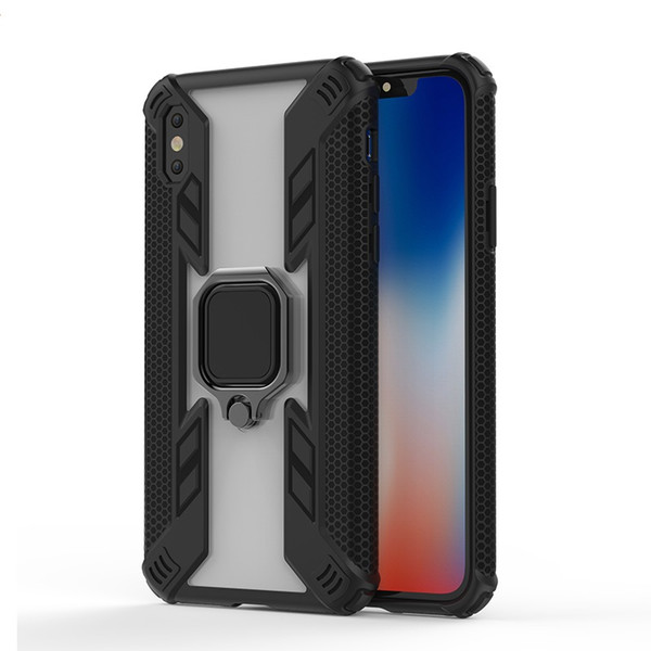 China Manufacturer Custom Design mobile case covers Magnetic Car Holder Ring Mobile Phone Case For Huawei Y9 2019