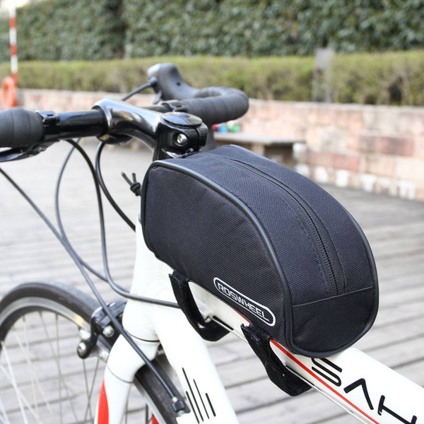 Cool 1L 600D Dacron Bicycle Saddle Bag Front Tube Panniers Handle Bar Bags for Cycling Accessories Black