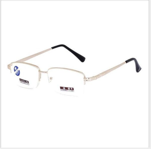 Men and women half-frame anti-blue-light presbyopic glasses fashionable double-light resin sheet far and near dual-purpose presbyopic glasse