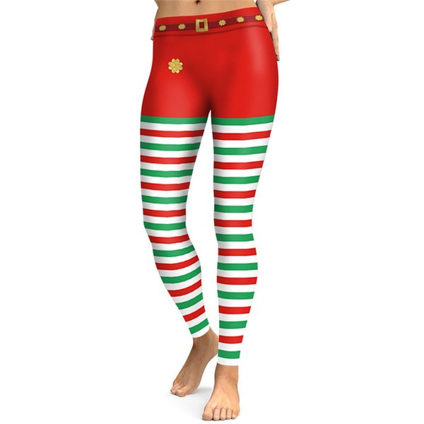 1pc Christmas Women Tight-fitting Pants Zebra Pattern Sports Yoga Pants Leggings 3D Digital Printing Autumn and Winter Girl Ladies Female