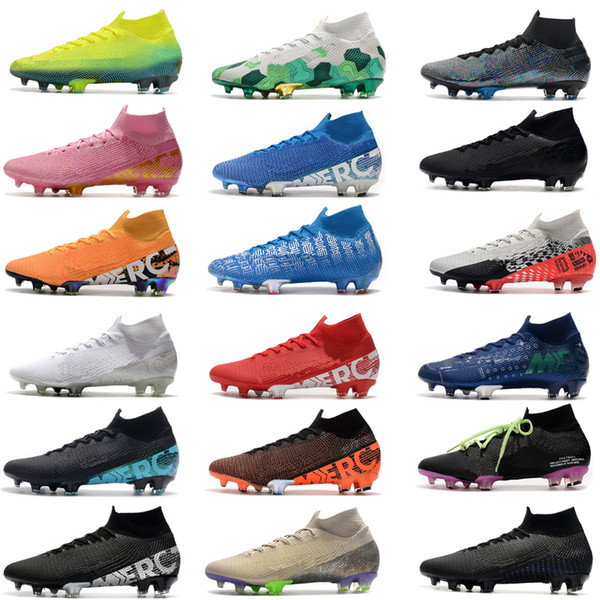 top popular 2020 New Mercurial Superfly 7 Elite SE FG Neymar Ronaldo Mens Soccer Cleats Cheapest Soccer Shoes ACC Mens Football Boots Scarpe Da Calcio 2020