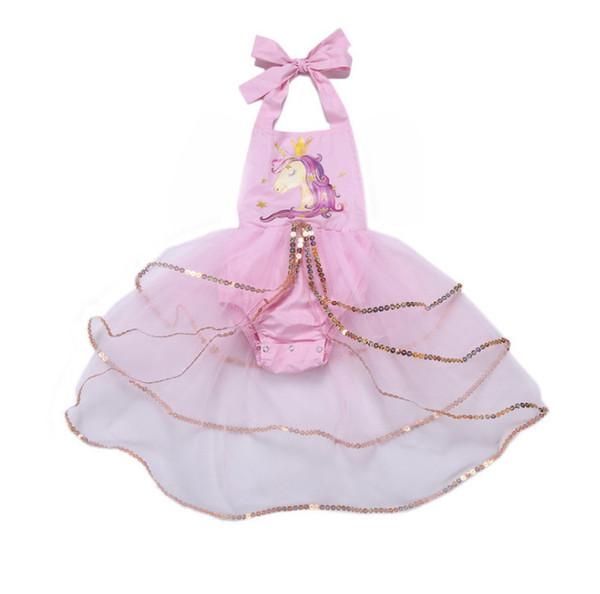 Promo-Codes professionelles Design genießen Sie besten Preis Großhandel Baby Mädchen Einhorn Kleid 2019 Sommer Neue Kind ...