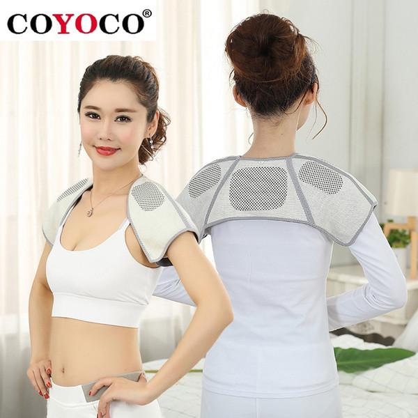 COYOCO Brand Self-heating Belt Back Support Shoulder Guard Bamboo Charcoal Brace Gym Sport Injury Back Pad Belts Keep Warm #17922