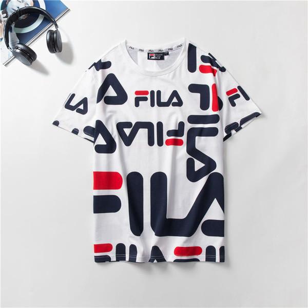 Mens Designer Marca T Camisa Irregular Frente E Verso Imprimir tamanho asiático M-2XL