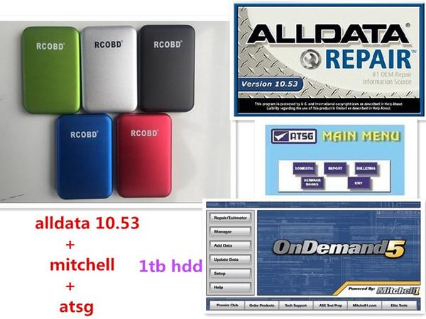 2019 Beste qualität Alldata 10.53 + m.itchellondemand 2015 + atsg + Alle daten 3 in 1 tb hdd usb 3.0 kostenloser versand