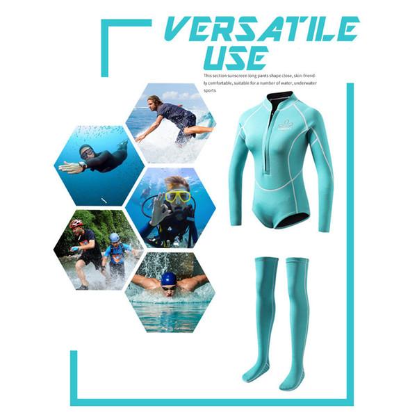 Moda Nuevo 2 MM Neopreno Traje de Buceo Mujeres Profesional Rash Guard Marca Calcetines Largos Snorkel Rashguard Mujer Natación Surf Traje de neopreno