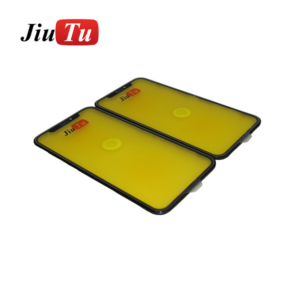 Outer Glass Len With Bezel Frame For iPhone XR Cracked LCD Repair Fix JiuTu DHL Free Shipping