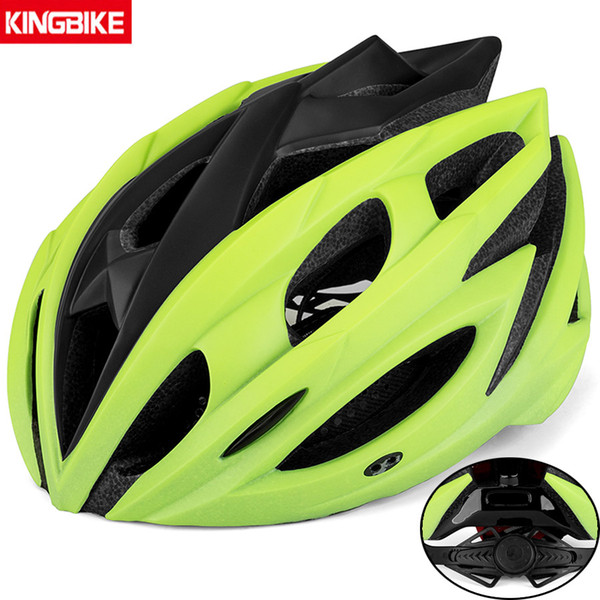 KINGBIKE 2019 새로운 사이클링 헬멧 남자 / 여자 자전거 헬멧 야외 스포츠 보호 캡 MTB Mountain Road Bike Ciclismo