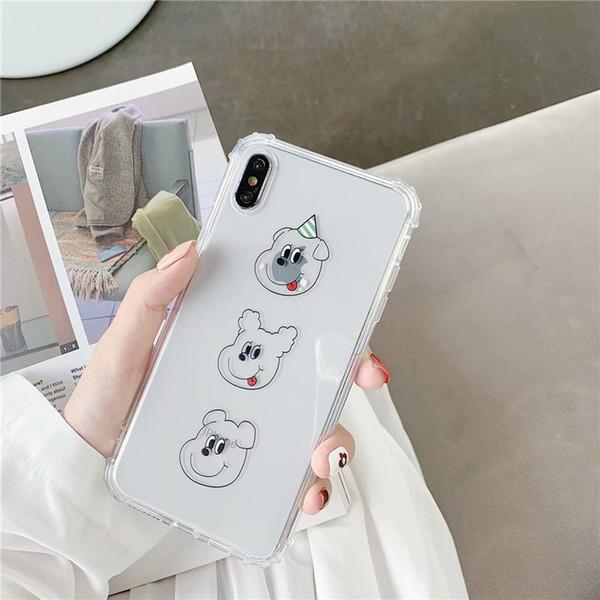 Applicable Apple x cas de téléphone portable iphone xs max femelle 7plus marée marque 6s plus chiot xr anti-chute