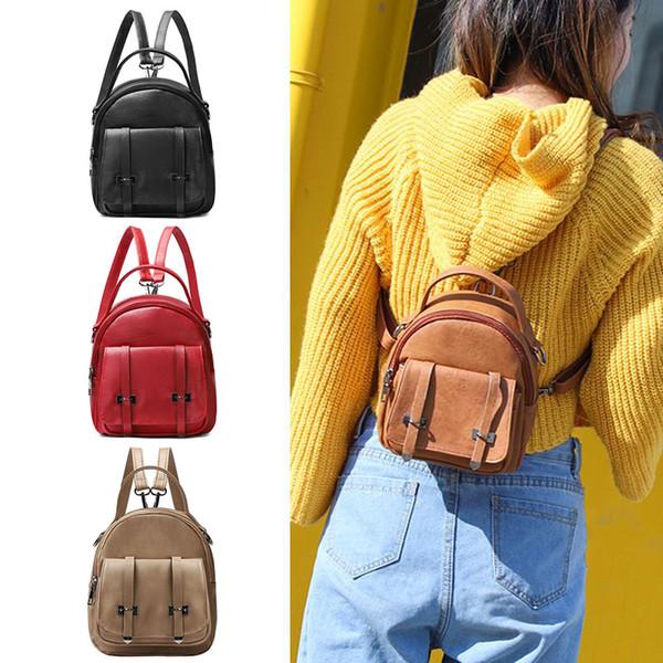 2019 New Fashion Mini PVC Backpack Adjustable Shoulder Strap Wear-resistant Bag for Women Girls LBY2019