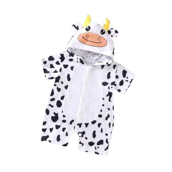 Новорожденный хлопчатобумажные комбинезоны прекрасный кроличьи уши малыш мальчик девочки с коротким рукавом детский костюм Комбинезоны Roupas Bebes Одежда для новорожденных