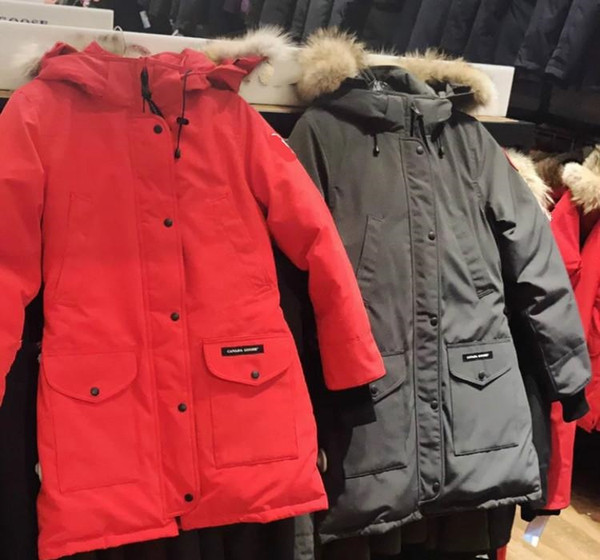 DHL Women Parkas WINTER CANADA TRILLIUM3 Down & Parkas WITH HOOD/Snowdome jacket Real wolf Collar White Duck/GOOSE Outerwear & Coats10