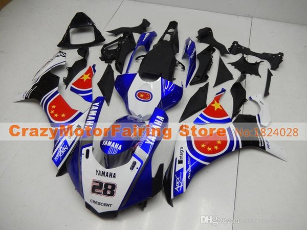 New Injection Mold High quality ABS Motorcycle Fairing Kits 100% Fitment For YAMAHA YZF1000 R1 YZF-R1 2015 2016 15 16 blue red black 28
