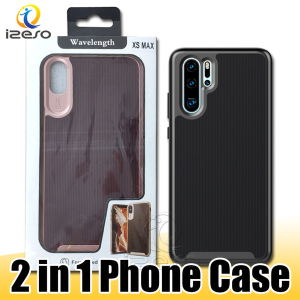 Pour iPhone 11 Pro Remarque Samsung 10 Plus S10 5G S10e A70 Huawei P30 antichocs TPU PC hybride Téléphone Case avec emballage au détail