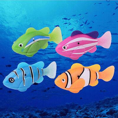 Funny Swim Electronic Robofish Toys Activated Battery Powered Robo Toy fish Robotic Pet for Fishing Tank Decorating party favor AAA1840