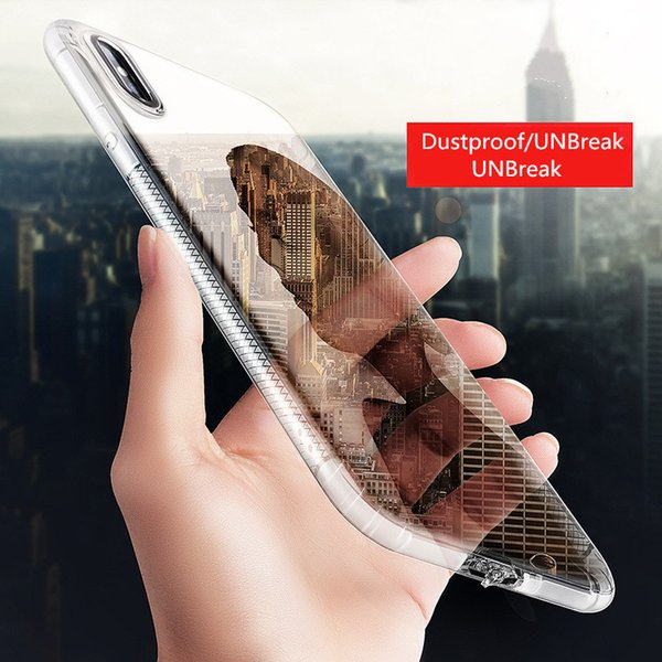 iPhone case New iphone X mobile phone case with transparent silicone soft shell creative protective cover against falling and dust DHL free
