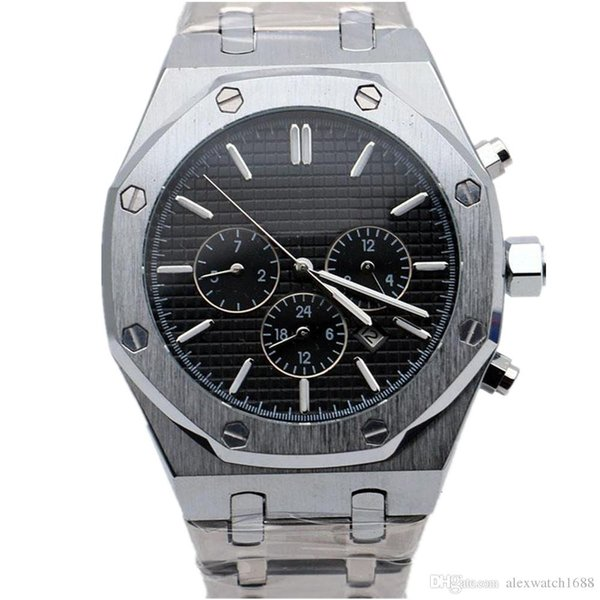 2019 New Mens Watch Royal Oak Offshore Automatic Mechanical Movement 42mm Stainless Steel All Dials Work Male Clock Wrist Watches on Sale 11