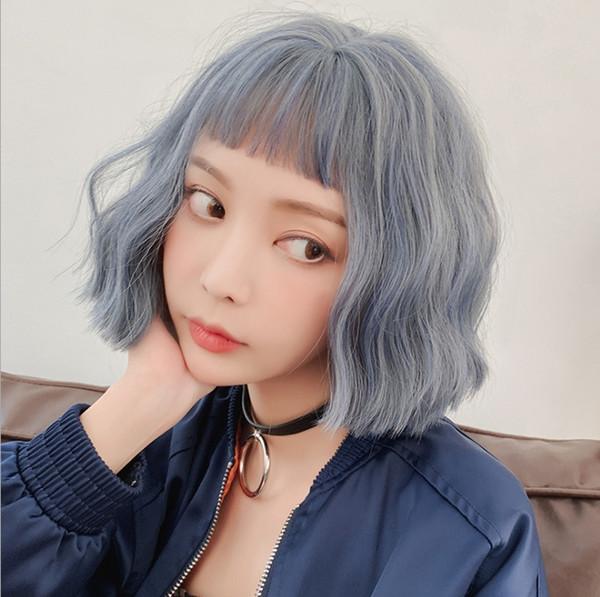 The new model emulation hair female Japanese and Korean fashion trend corn hot short curly hair emulation hair wholesale