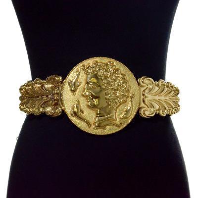 Altın Bel Kayışlar Moda Kadın Metal Geniş Kemer Bayan marka Tasarımcı Bayanlar Elastik Kemer Bayan Altın Zincir Kemer Kızlar