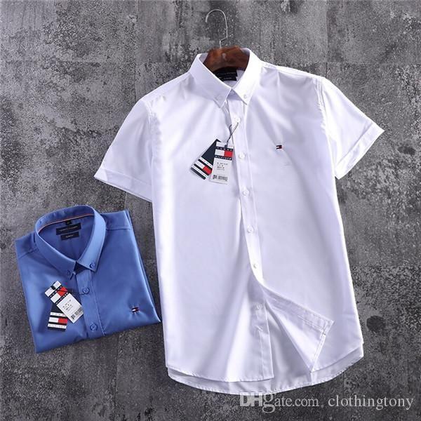19SS Paris Tom Lovers blusa de algodón mercerizado Camisetas de negocios Hombres de manga corta Camiseta de verano Chaleco transpirable Camisa Streetwear Camiseta al aire libre