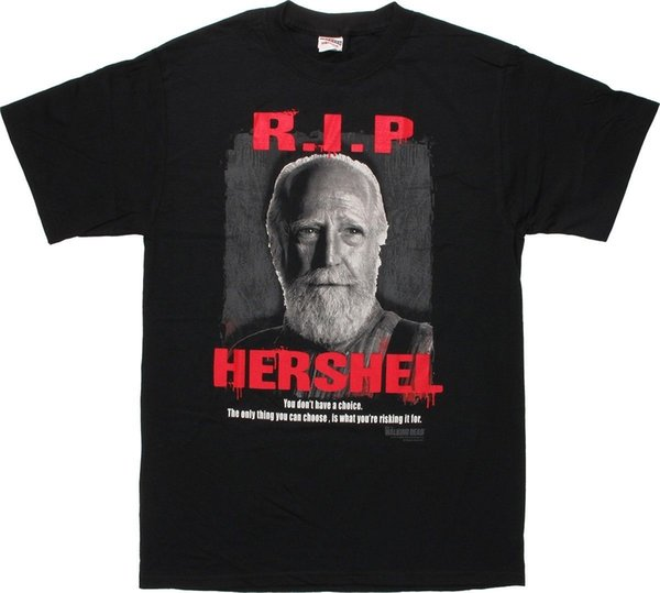 The Walking Dead Rasgar Hershel Licenciado Adulto T Camisa Legal orgulho t shirt dos homens Unisex Moda tshirt