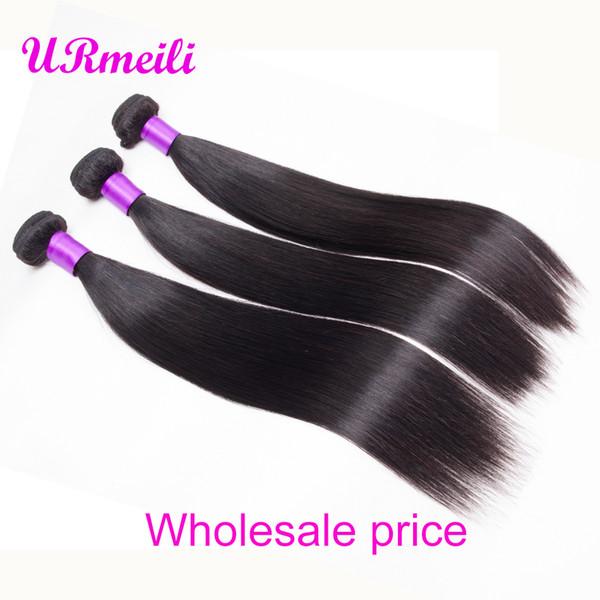 Peruvian Straight Hair Bundles urmeili straight 100% Human Hair 30 inch Bundles cheap dhgate Remy Hair Weave Extensions Natural Color