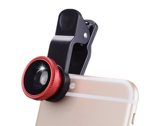 NEW Universal 3 in 1 Wide Angle Macro Fish eye Lens Camera Mobile Phone Lenses Fish Eye Lentes For iPhone 6 7 Smartphone Microscope 100