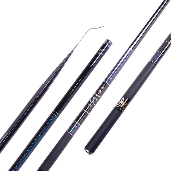 Portable Pocket Stream Rod High Carbon Fishing Pole Short Canne 3.6/4.5/5.4/6.3/8m Super Light Hard Hand Rod Olta Pesca Fishing Tackle