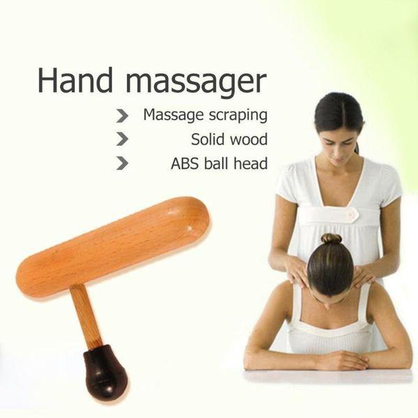 1pcs Portable Wood Foot Back Massager Roller Ball Rod Massager for Body Health Relax Tools for Massageador
