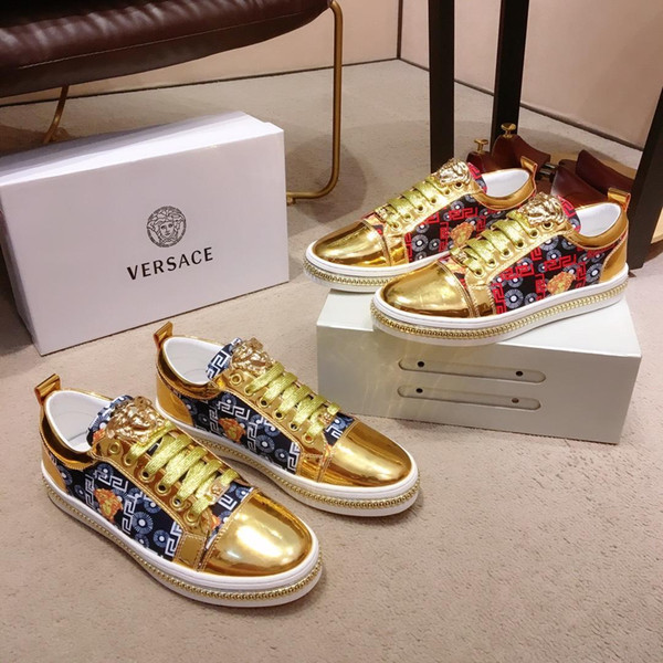 2019R nuove scarpe casual da uomo di lusso in edizione limitata comode scarpe sportive moda uomo selvaggio scarpe confezione originale