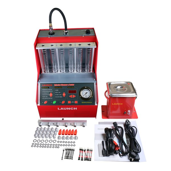 Origninal Launch 6 cylinder CNC602A Ultrasonic Fuel Injector Cleaner Tester English Panel Free Shipping