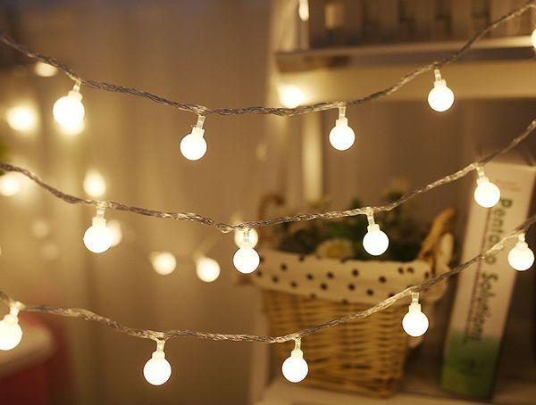 Nouveau 3 M 6 M Guirlande De Fées LED Boule De Guirlande Lumineuse Étanche Pour Arbre De Noël De Mariage Maison Décoration Intérieure À Piles LLFA