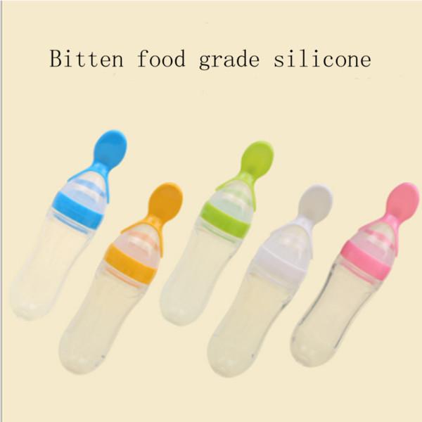 Детская рисовая паста бутылку соску детские овощи фрукты кормления силиконовые доильные ложки детей дополнения бутылку паста ложка