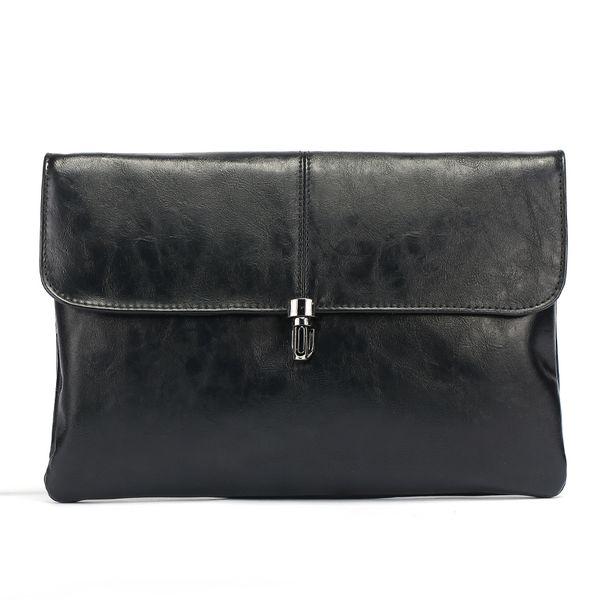 Yeni kilit moda debriyaj çanta erkek kadın çanta buzlu PU iş zarf çanta IPAD dosya paketi cüzdan yüksek kalite Bilek çanta