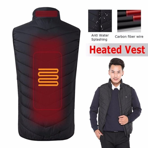 men's electric battery heating usb sleeveless vest winter heated outdoor jacket motorcycle,outdoor sports jackets