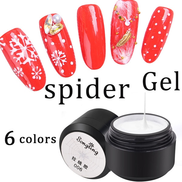 Limegirl Spider Gel Creative Wire Drawing Nail Gel Lacquer Point To Line Painting Polish Pulling Silk Spider Nail Art Design
