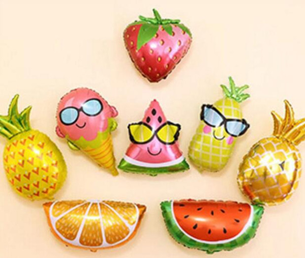 top popular New Kind of Big Fruit Style Aluminum Film Balloon Eye Fruit Birthday Party Decorations 2020