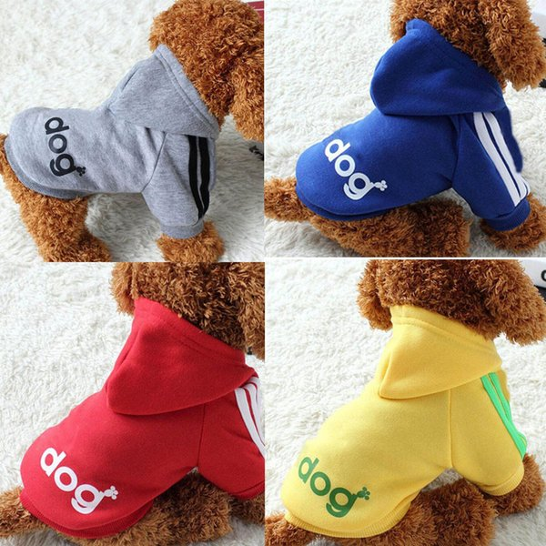 Pet Dog Clothes Dog Hoodies Winter Warm Soft Cotton Clothing For Small Dog Sweater Puppy Coat