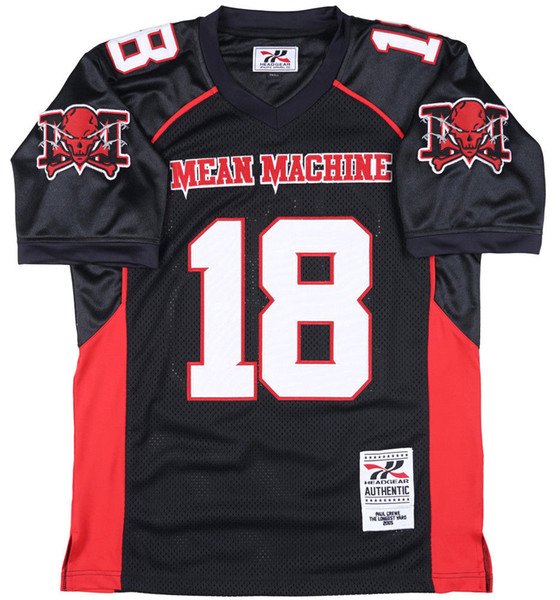 Mean Machine Crewe Football Jersey The Longest Yard Headgear Movie