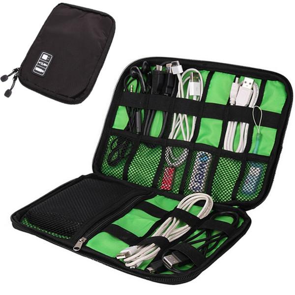 2019 All'ingrosso-Cable Storage Bag Organizer elettronico portatile Gadget elettronico Borsa da viaggio USB Auricolare Custodia digitale organizador