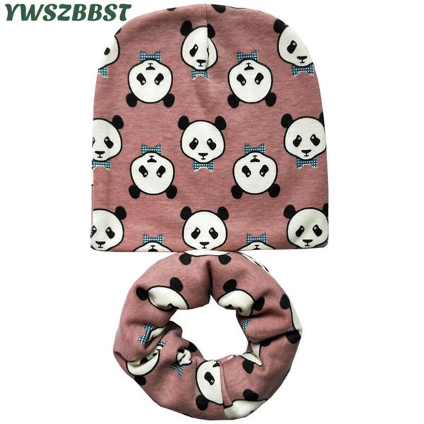 2pc/set fashion animal camo print crochet children hats cap boys girls skullies beanies cap scarf collar kids hat scarf set thumbnail