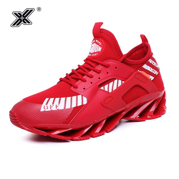 best sellers new INS star style high quality outdoor men shoes 2019 summer red PU hollow-out blade sole men tenis sneakers