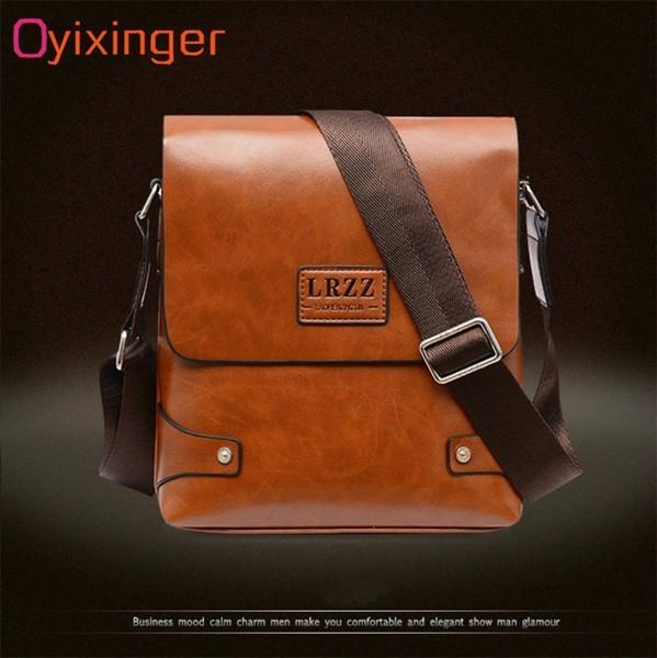 Oyixinger Men Messenger Bags Satchel Bag in pelle morbida uomo di mezza età spalla singola pratica borsa da lavoro per ipad tablet pc borse # 251560