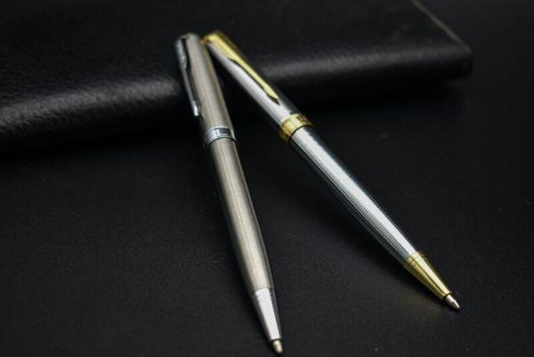 Roller calidad superior de la bola de metal de la pluma de la escuela Oficina Proveedores de recarga 0.5mm Firma Bolígrafo novedad de la pluma del gel