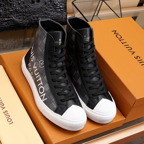 Nouveau Hommes Chaussures Casual Luxe Entraîneur Chaussures Mode Chaussures de Hombre avec Origin Box Tattoo Sneaker Boot Hommes Chaussures Mode Hommes Bottes